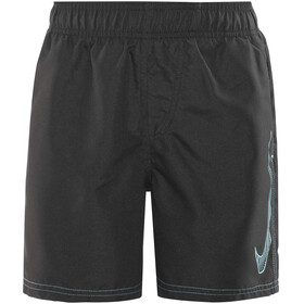"Nike Swim Big Swoosh Logo Volley Shorts Boys 4"" Black"